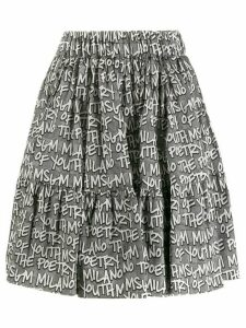 MSGM printed skirt - Black