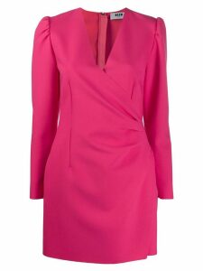 MSGM short wrap-style dress - Pink