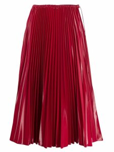 Fendi pleated midi skirt - Red