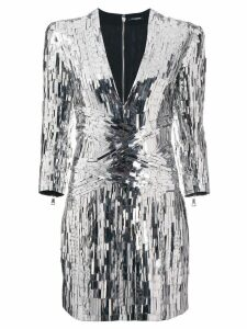 Balmain sequin embellished mini dress - Silver