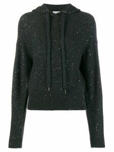Brunello Cucinelli sequin hoodie - Grey