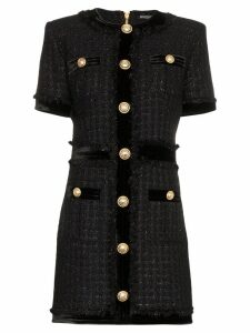 Balmain buttoned mini dress - Black