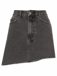 Ksubi asymmetric hem mini skirt - Grey
