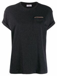 Brunello Cucinelli bead-embellished T-shirt - Black