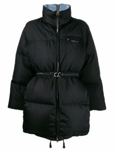 Prada oversized reversible padded coat - Black