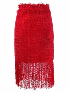 MSGM fringed skirt - Red