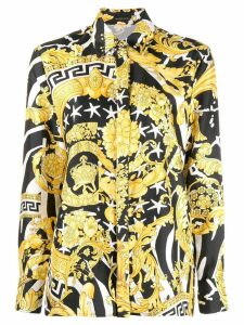 Versace Baroque print shirt - Black