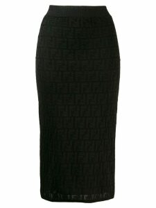 Fendi FF motif knit skirt - Black