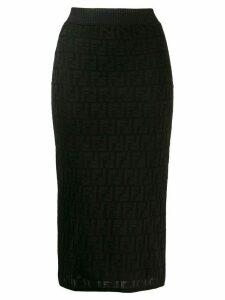 Fendi FF motif knit skirt - Black