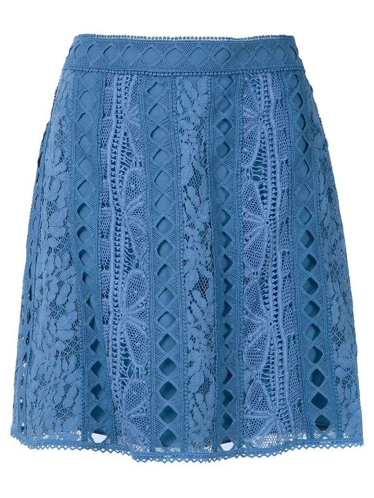 Martha Medeiros Alissa skirt - Blue