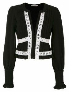 Martha Medeiros Nervura long sleeved blouse - Black