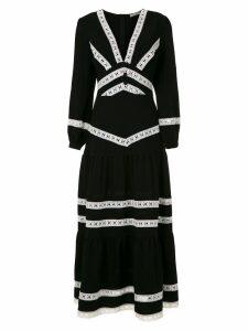 Martha Medeiros Nervuras midi dress - Black