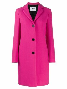MSGM single-breasted coat - Pink