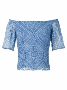 Martha Medeiros Claudia off the shoulder top - Blue