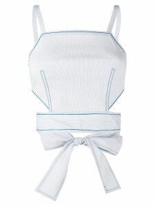 La Perla Ginko beachwear top - Blue