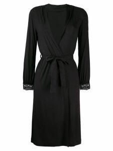 La Perla Tres Souple short robe - Black