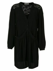 Martha Medeiros long sleeved shirt dress - Black