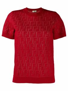 Fendi FF motif knit top - Red