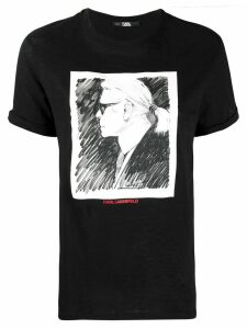 Karl Lagerfeld Legend Profile T-shirt - Black