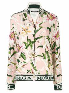Dolce & Gabbana lily print track jacket - Pink