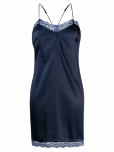 La Perla Embrace slip dress - Blue