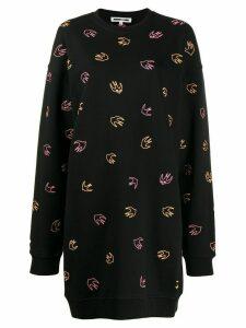 McQ Alexander McQueen swallow sweatshirt dress - Black