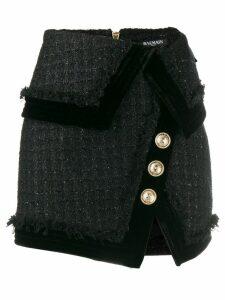 Balmain tweed mini skirt - Black