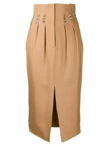 Atu Body Couture rhinestone-embellished midi skirt - Gold