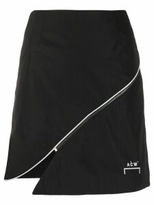 A-Cold-Wall* zip-embellished shell skirt - Black