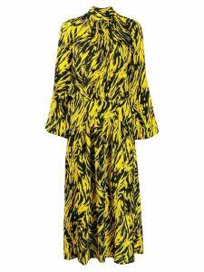 Nº21 animal print flared dress - Yellow