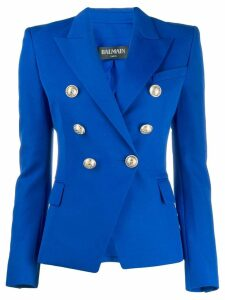 Balmain button-embellished blazer - Blue