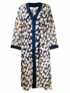 Diane von Furstenberg Terry kaftan dress - Blue