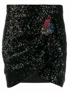 Pinko fitted sequin skirt - Black