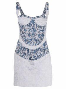 Atu Body Couture printed bustier mini dress - Blue