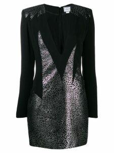 Redemption deep v neck mini dress - Black