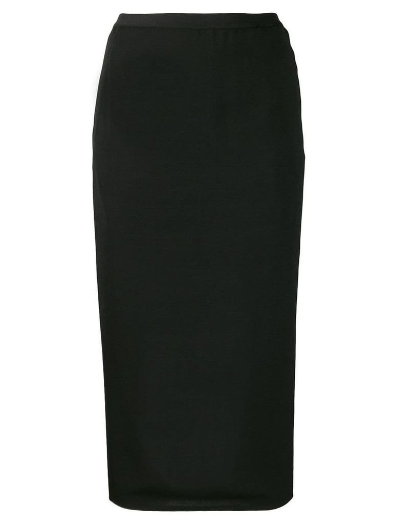 Rick Owens fitted skirt - Black
