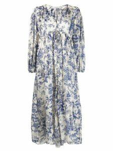 Zimmermann long floral dress - White