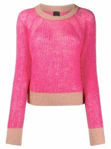Pinko contrast trim jumper