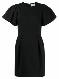 Alexander McQueen pleated detail short dress - Black