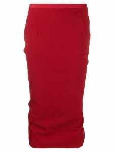 Rick Owens stretch-cady skirt - Red