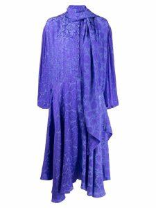 Chloé scarf neck printed dress - Blue