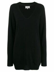 Maison Margiela oversized cut out jumper - Black