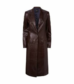 Longline Leather Coat