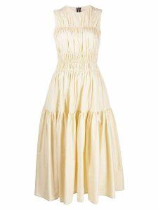 Roksanda gathered flared dress - Yellow