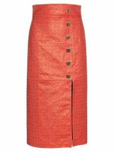 Skiim Lucy houndstooth pencil skirt - Red