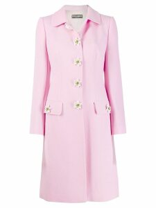 Dolce & Gabbana embellished single breasted coat - PINK