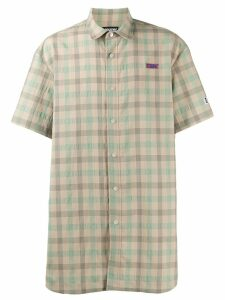 Youser oversized check shirt - Green