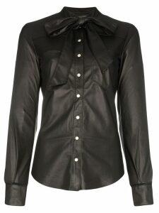 Skiim Joey bow-neck shirt - Black