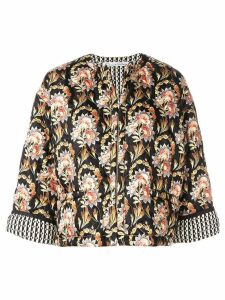 Oscar de la Renta floral print jacket - Black