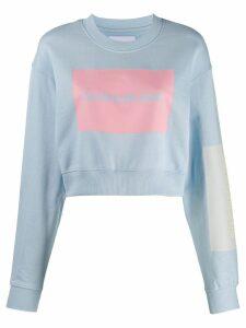 Calvin Klein Jeans cropped logo sweatshirt - Blue